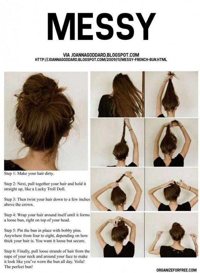 Tente uma torcida updo verão: updo projetos de cabelo