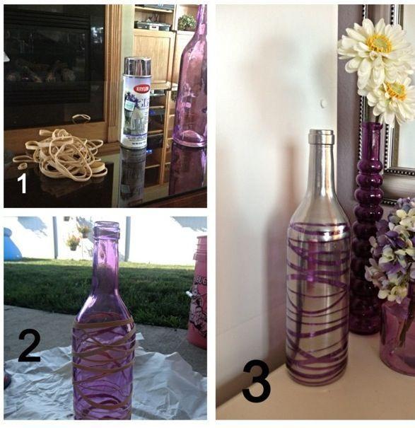 DIY roxo vaso