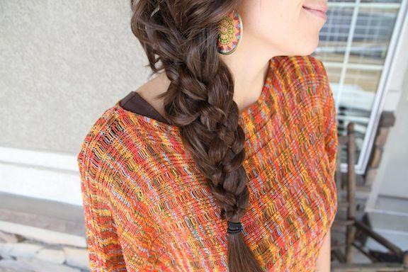 Tutoriais de cabelo para tentar: cinco tranças strand