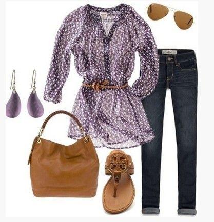 Outfit Primavera bonito, animal print blusa e sandálias marrons