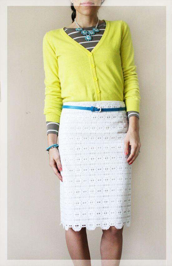 DIY Lace Pencil Skirt
