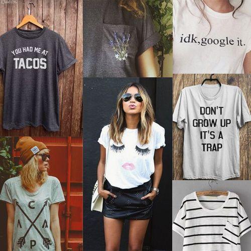 10 Moda camisetas para vestir nesta temporada