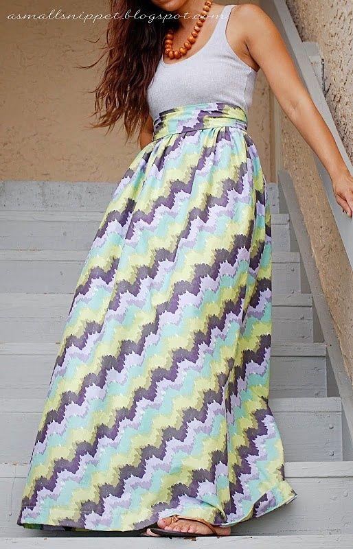 Fácil DIY Maxi Skirt