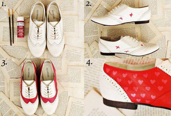 10 Idéias diy super fácil de renovar seus sapatos