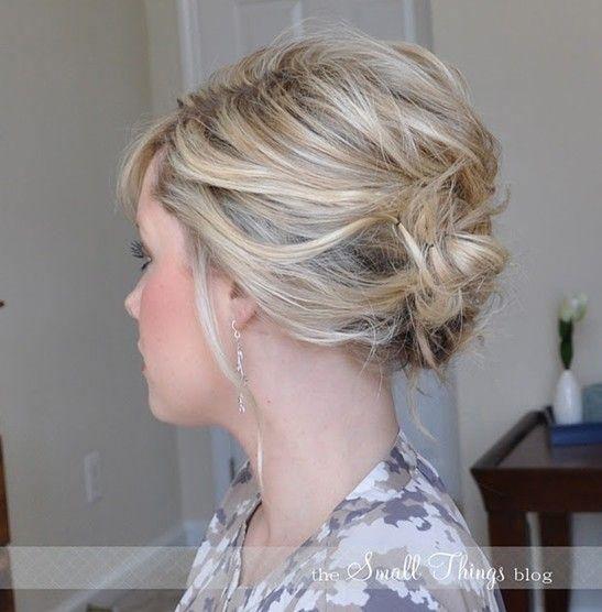 10 Penteados updo para cabelo curto - updos fáceis para mulheres