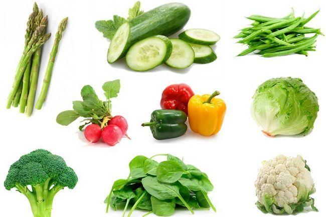 lista de vegetais para perda de peso