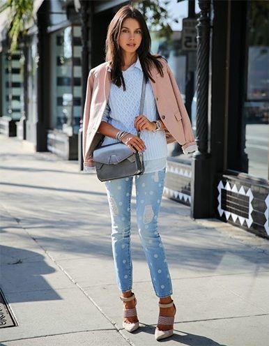 jeans angustiados DIY