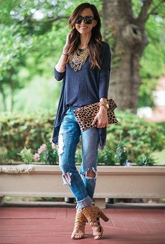 como usar jeans angustiados