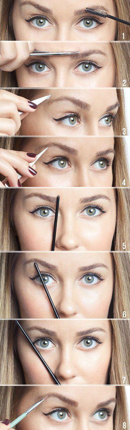 através de make-sobrancelhas perfeitas truques-to;