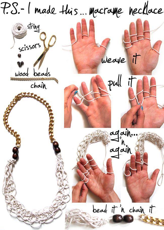 12 Colares diy moda com correntes de instrução