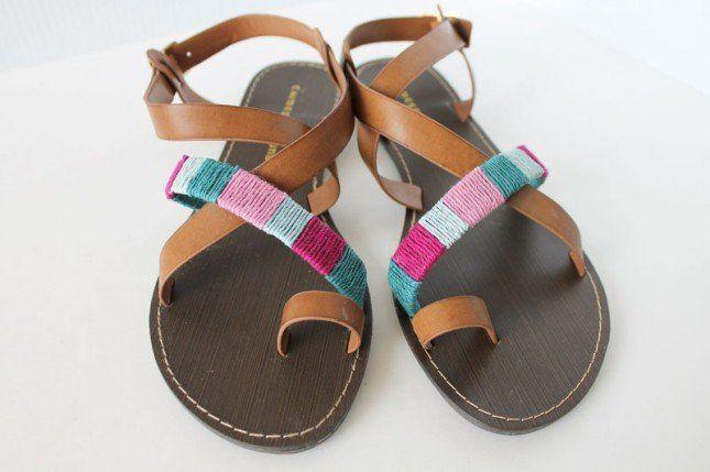 11 Maneiras para renovar suas sandálias para a temporada