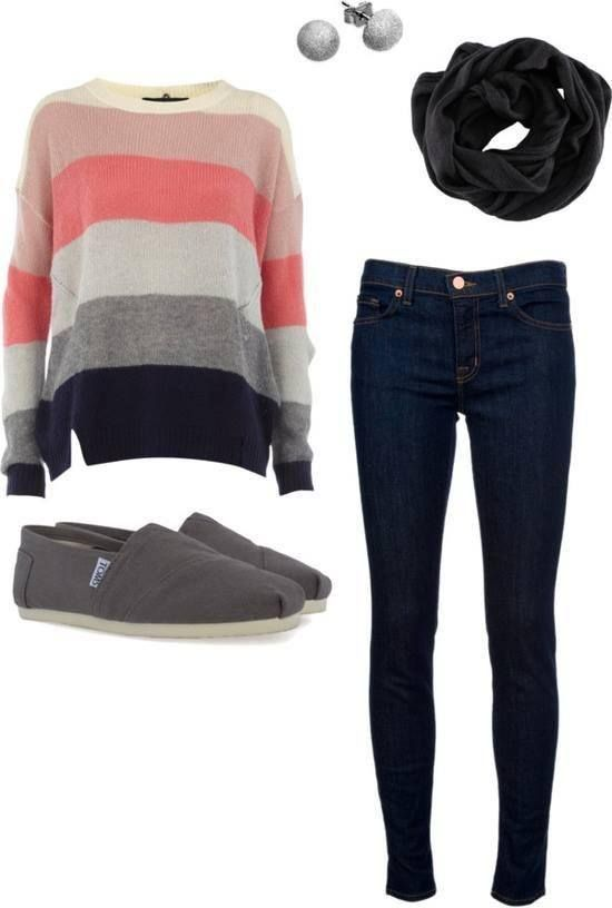Striped Coral camisola Outfit para 2016