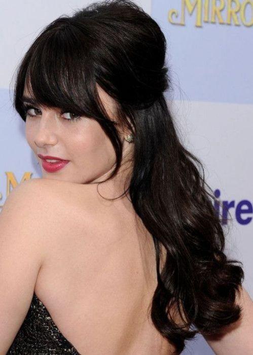12 Beautiful celebridades penteados meia-up meia-down para 2015