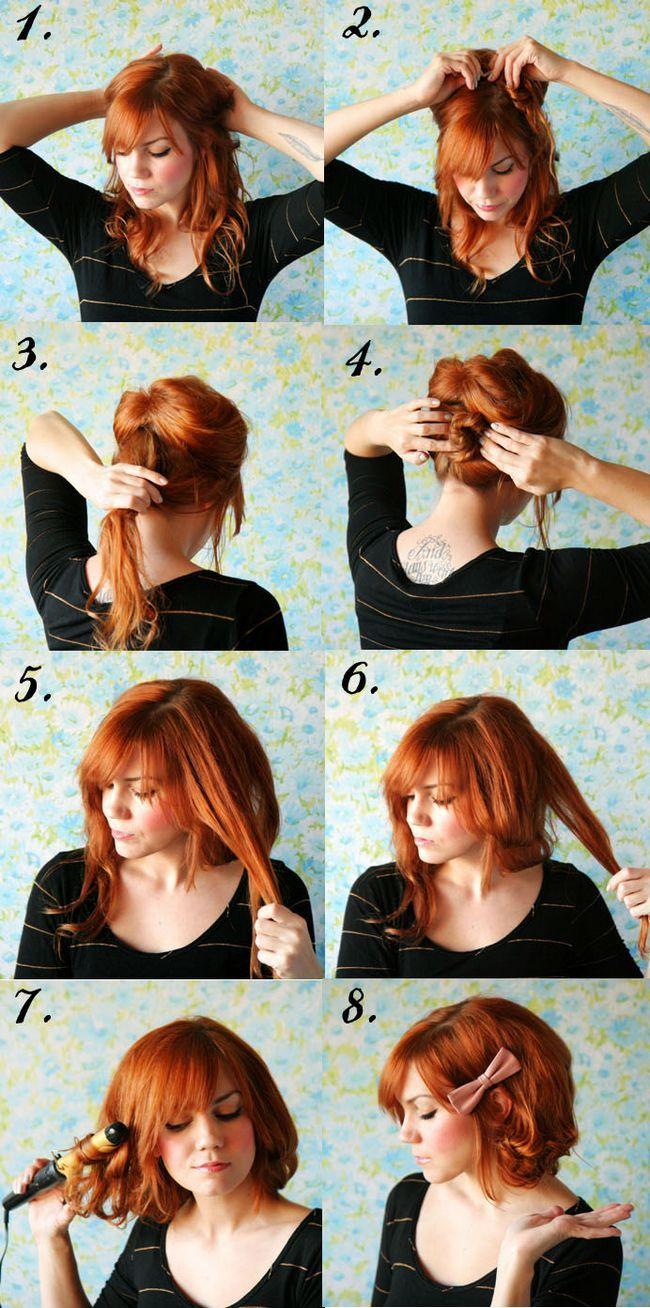 Como fazer cabelo curto longo: faux tutoriais de cabelo bob
