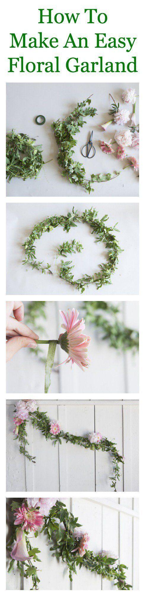 12 Projetos festão floral diy para sua casa