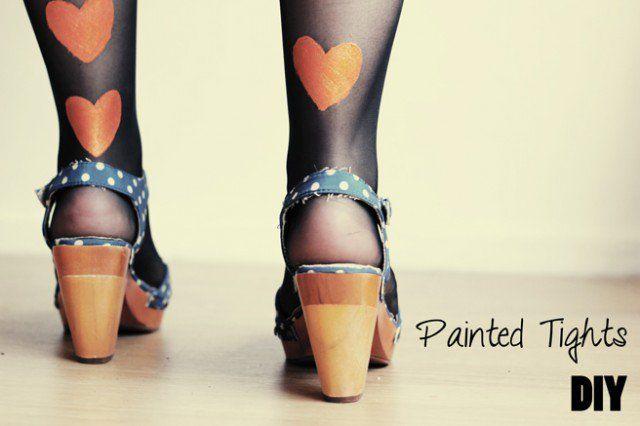 Leggings bonito da forma do coração