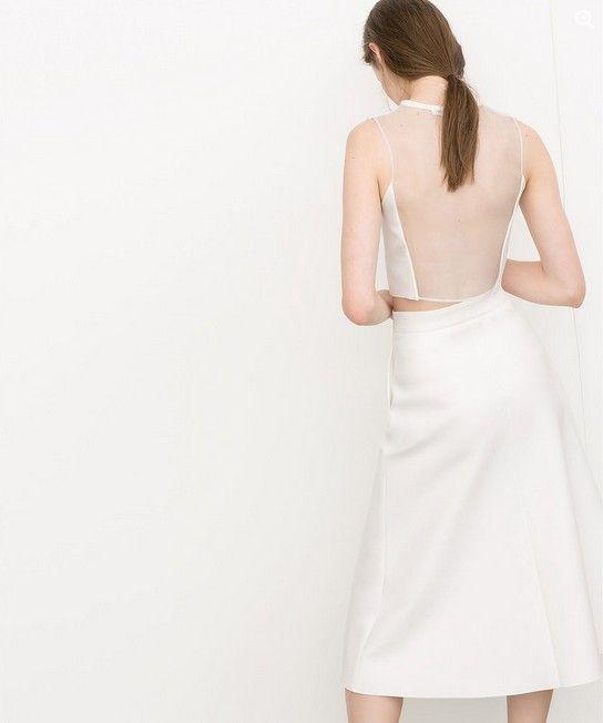 Zara Neoprene Sheer-Back Top (US $ 26)