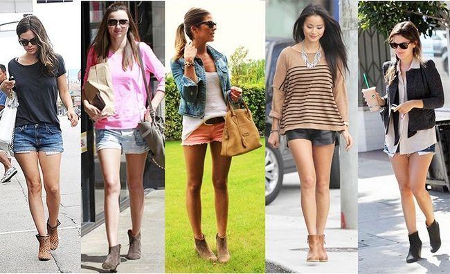 shorts com saltos de moda para mulheres