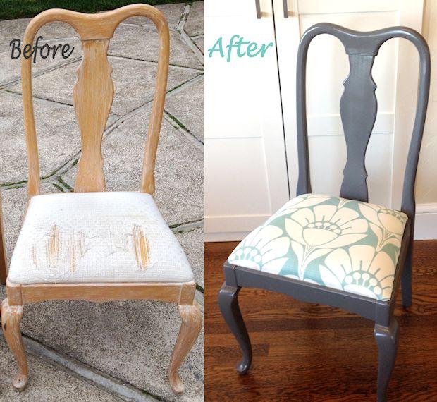 12 Maneiras para renovar suas velhas cadeiras