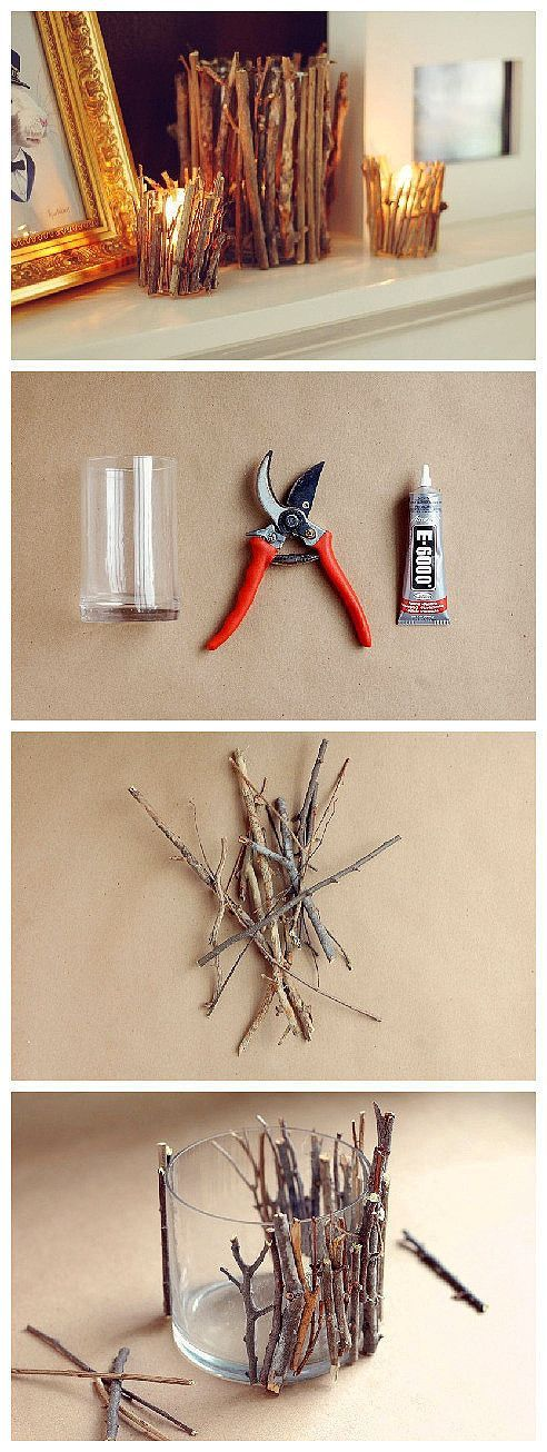 13 Ideias diy decorativos com galhos de árvores