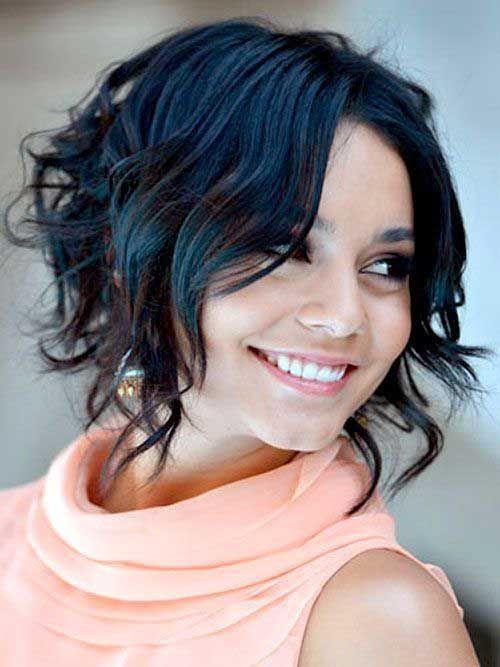 Penteados ondulados curtos bonitos para 2014