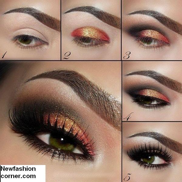 Shimmer Eye Makeup Idea por Mulheres