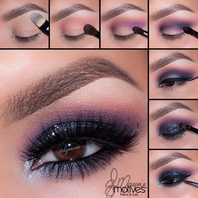 Fantastic Tutorial composição roxa Smoky Eye