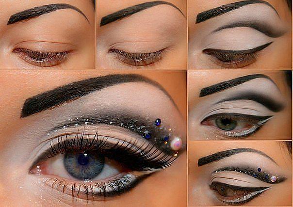 Dramatic Tutorial de maquiagem dos olhos para olhar da noite