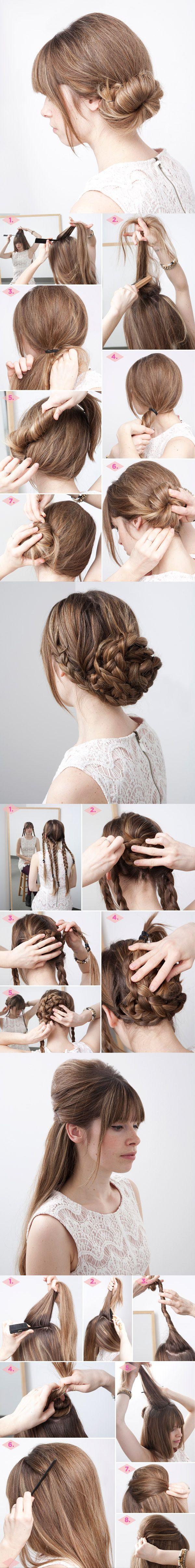 13 Bastante simples penteados bun tutoriais para 2014