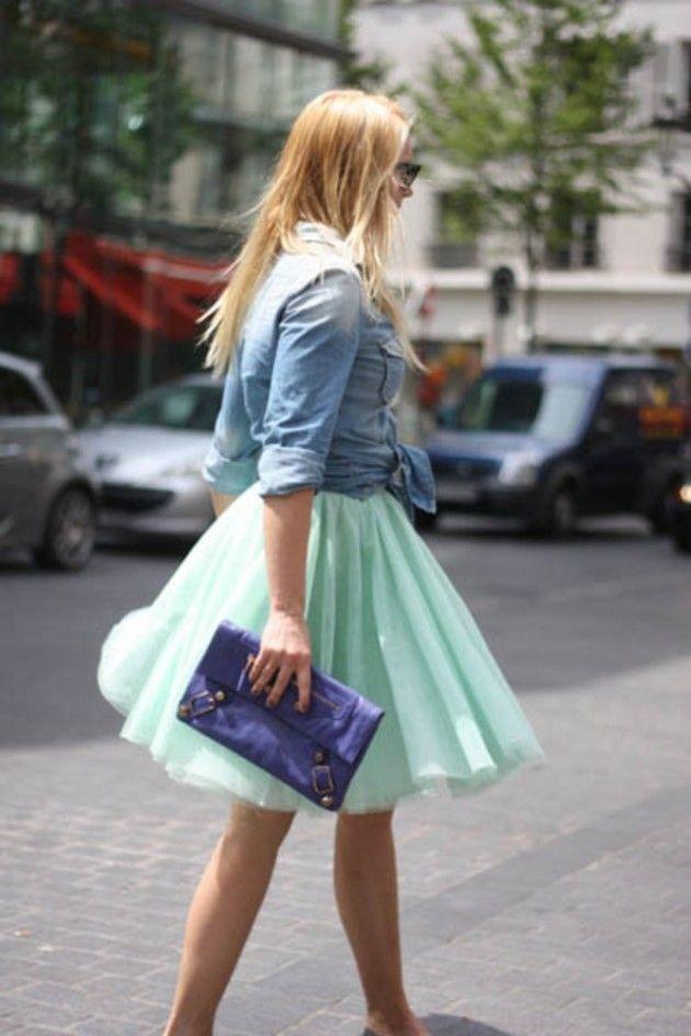 Mint Idéias Outfit - Mint Tulle saia