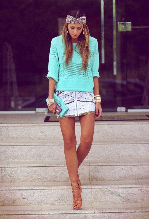 Mint Idéias Outfit - Mint Top