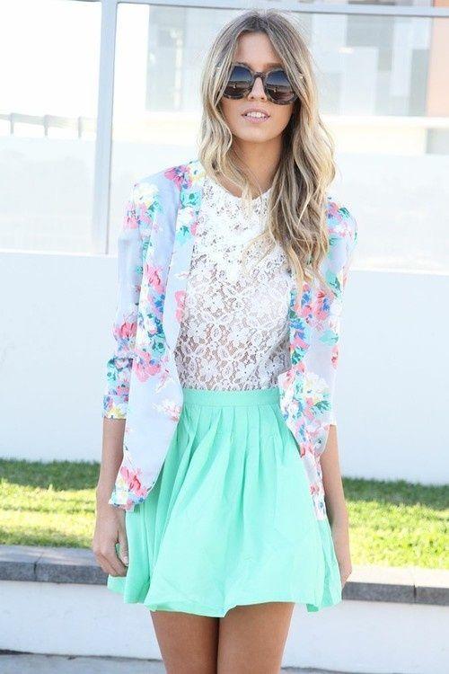 Mint Idéias Outfit - Mint saia