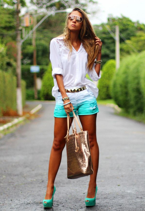 Idéias Mint Outfit - Shorts Mint