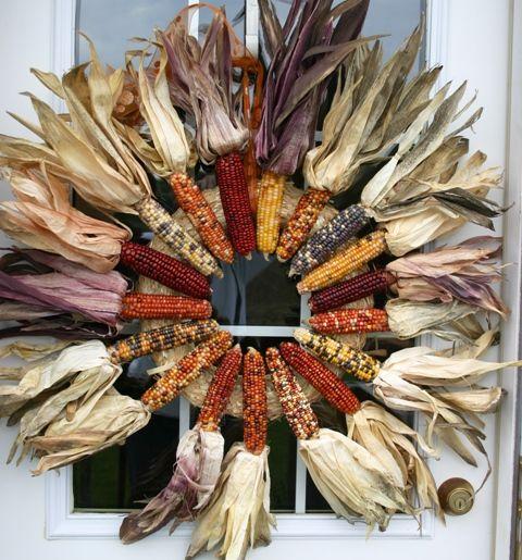 13 Ideias coroa de flores para sua porta de graças