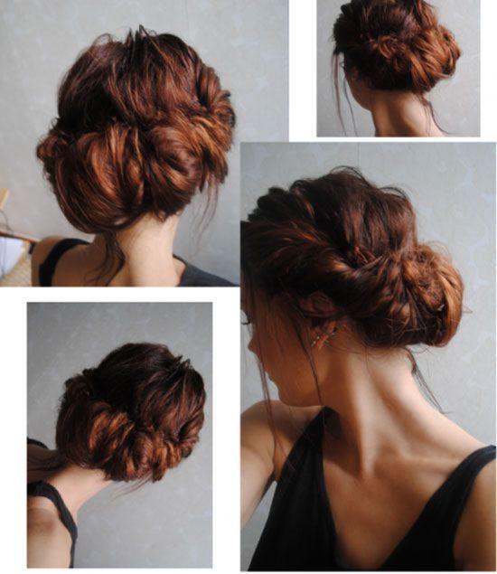 Cabelo tentar: trançado penteados bun