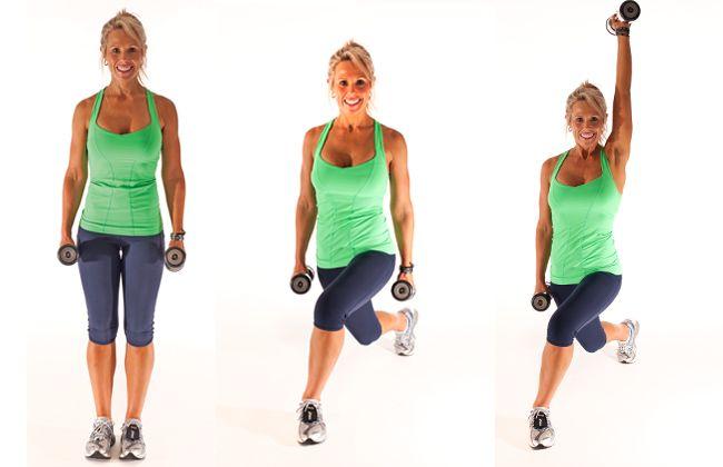 Inverter estocada lateral, único braço de imprensa - Mulheres`s Health & Fitness