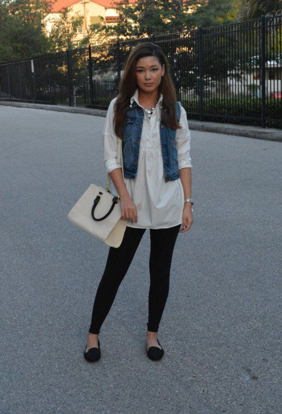 Black Jeans com Denim Vest