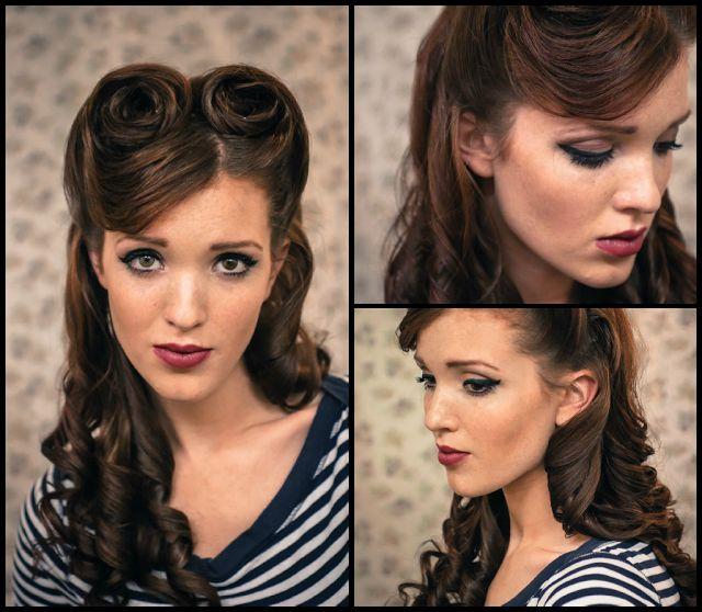 14 Tutoriais penteado retro glamorous