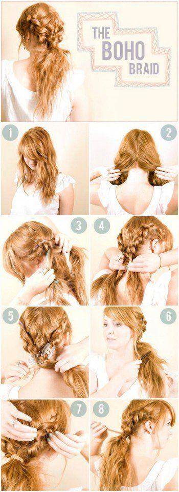 14 Tutoriais penteado simples para o verão