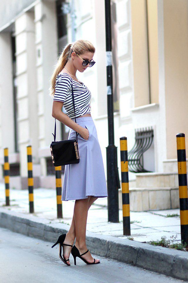14 Maneiras de usar saias midi nesta primavera