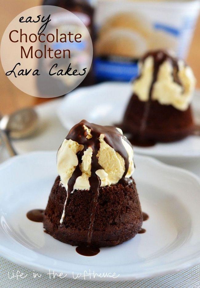 Fácil bolos de chocolate lava derretida