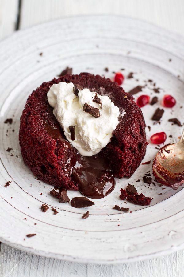Velvet Red Chocolate Molten bolo Lava