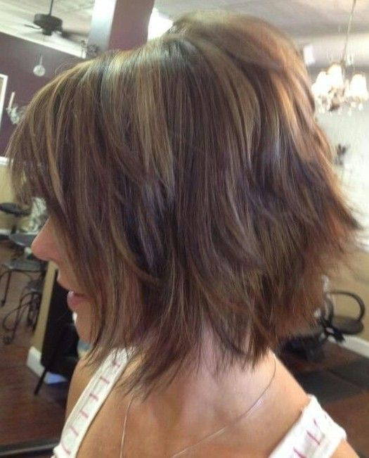 Shaggy Bob corte de cabelo para cabelo Ombre