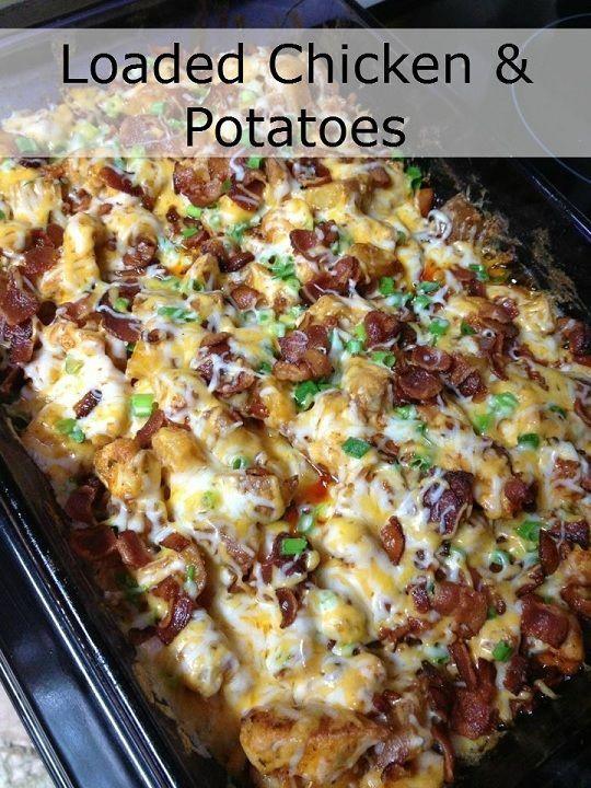 Batatas frango carregados