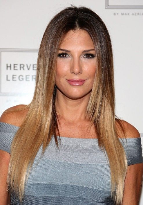 Longo Liso Liso Ombre Hairstyles- Daisy Fuentes