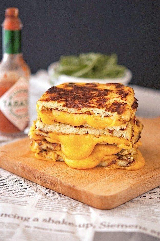 Couve-flor Crust queijo grelhado