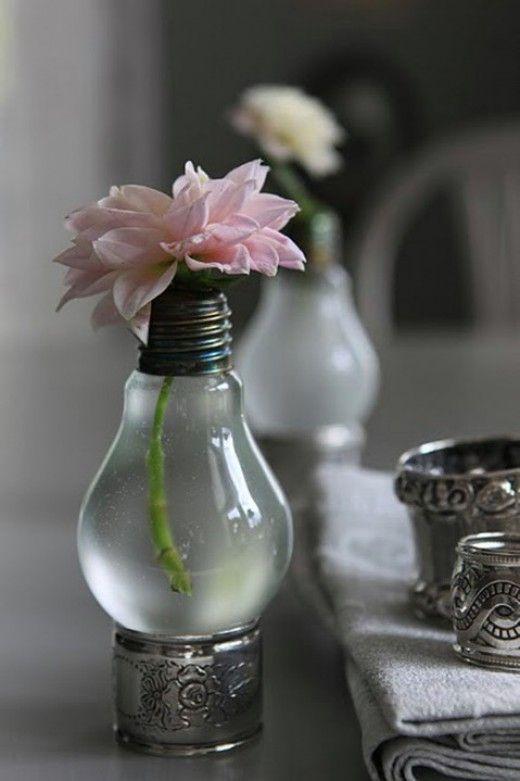 15 Idéias para remodelar as velhas lâmpadas