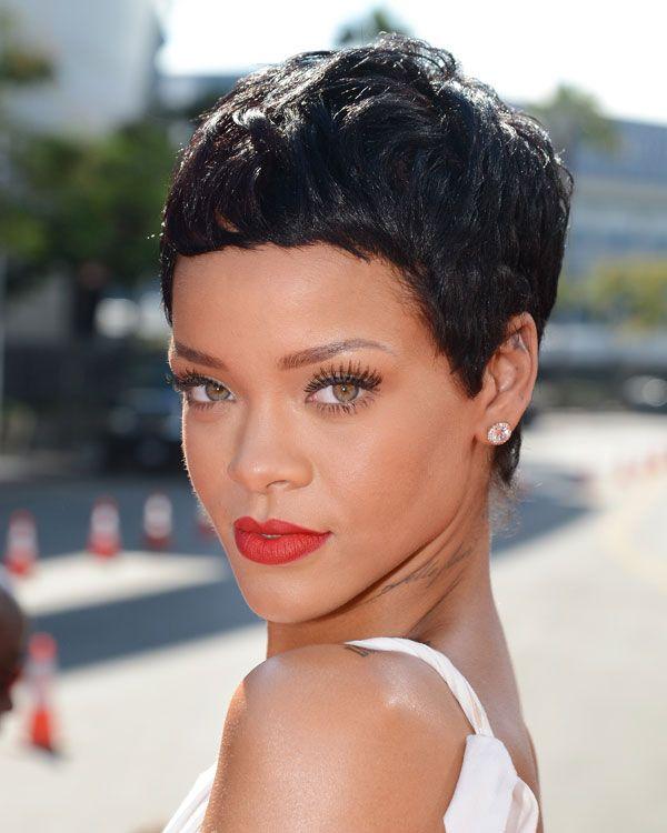 Rihanna Pixie corte de cabelo