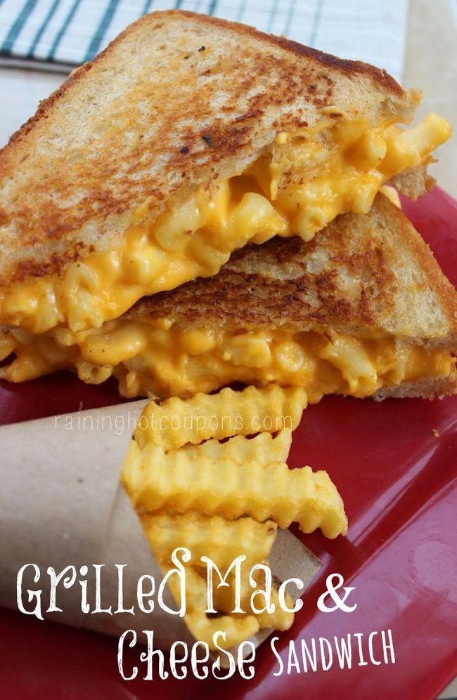 Grelhado e sanduíche de queijo