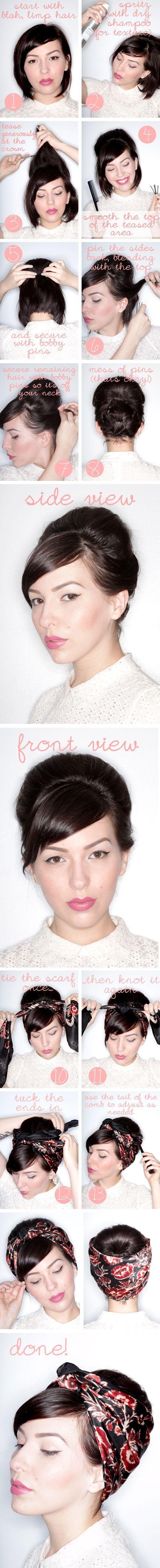 15 Tutoriais penteado sassy para o cabelo curto ou médio